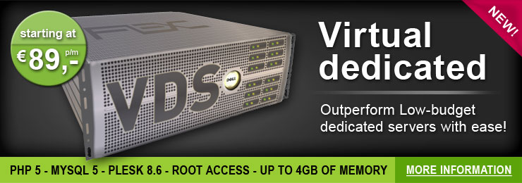 VDS - virtual dedicated servers - € 89,-